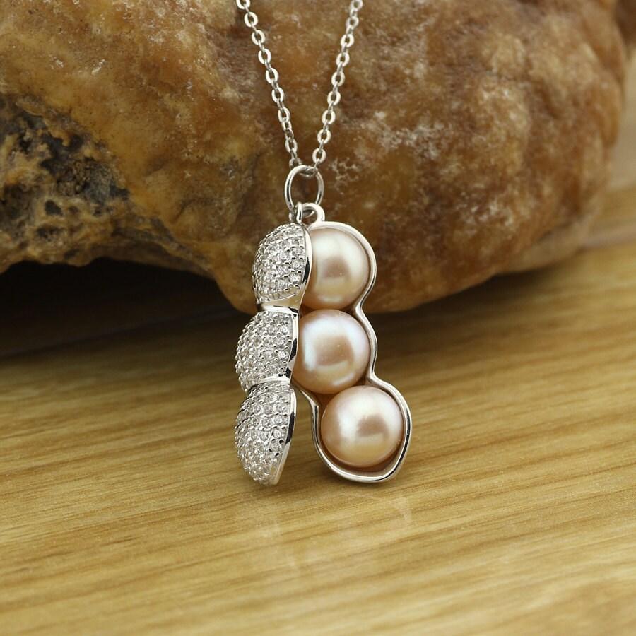 pearl peanut druzy necklace gold drusy by pearljewellery