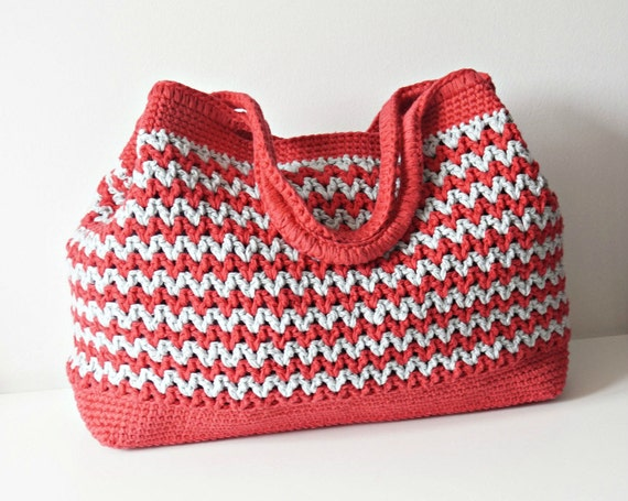 Crochet Shoulder Bag Pattern : CROCHET PATTERN Crochet Bag Pattern Tote Pattern by isWoolish