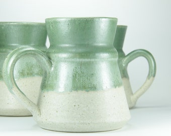 Green coffee mug, espresso mug, Stoneware Mugs, pottery coffee mug, contemporary ceramic, coffee lovers gift, christmas gift for her