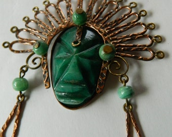Amazing tribal- agate and copper Necklace-SALE-SAle NOW 98
