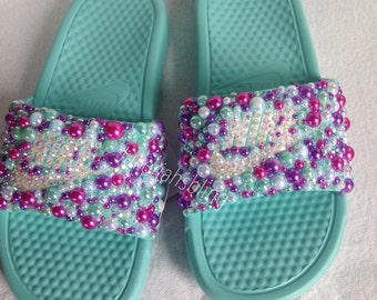Bling nike slides nike shoes accessories