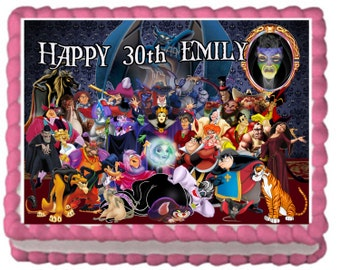Disney Villains Edible Cake Topper with FREE Personalization