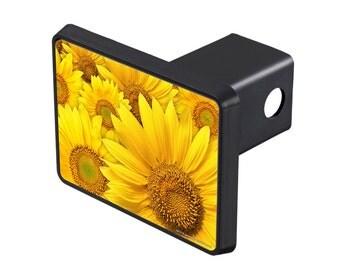 Airstrike® Sunflower Hitch Cover, Sunflower Trailer Hitch Cover for Trucks, Cute Tow Hitch Cover by Jason Fetko-25-711