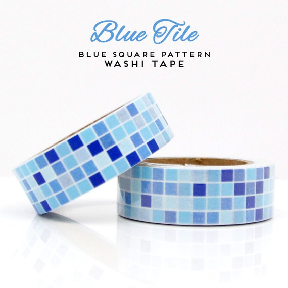 Blue Square Pattern Washi Tape
