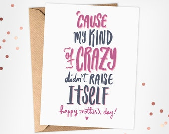 Funny Mothers Day Card - Mother's Day Card - Mother's Day Instant Download Card - Mother's Day Printable Card
