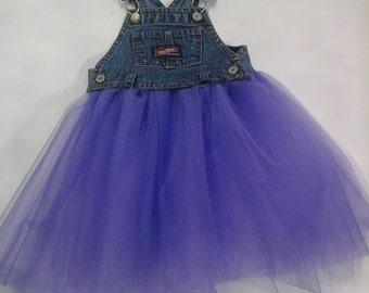 Denim Tutu Dress in Purple