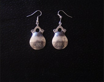 Pueblo Wedding Vase earrings: Handcrafted, Sterling Silver, Dangle-style earrings