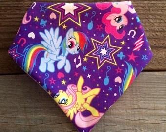 My little pony bandana bib, little pony bib, my little pony bib