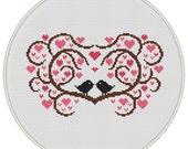 Love tree Сross stitch pattern, Instant Download, Free shipping, Cross-Stitch PDF, Love  bird, Valentine's Day, Heart tree, MCS144