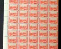 1934 Mint Sheet of Two Cent Grand Canyon National Park Stamps, SC741 NH OG