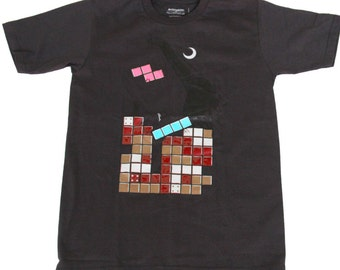 Tetris T-shirt Moving Blocks by Arctic Tees S, M, L Grey: 80s Retro Video Games  Mario Space Invaders Atari Arcade Nerd Geeky