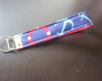 Red and blue nautical keyhcain/keyfob/hardware