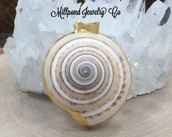 Seashell Charm, Seashell Pendant, Shell Charm, Gold Plated Charm, Ocean Charm, Ocean Pendant, Beach Charm, Beach Pendant
