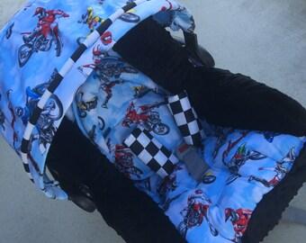 Dirt bike, motocross, Infant Replacement Car Seat Cover