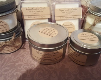 soy wax clamshell wax melts 3 packs soy candle-made by hand-100% soy