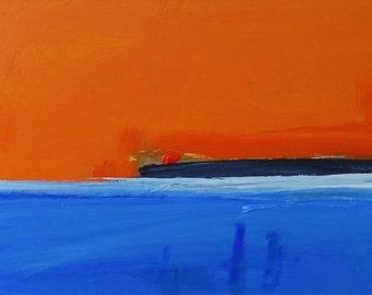 DARK POINT, HEADLAND, Rhoscolyn. Original Acrylic Abstract Landscape Painting.
