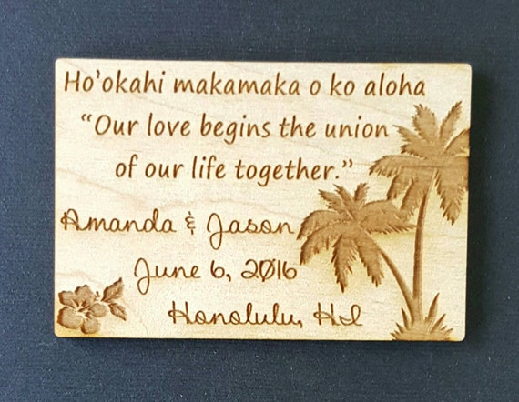 Hawaiian Wedding Gift Ideas: Wedding Favor Magnets Hawaii Bride Groom Gift Save The
