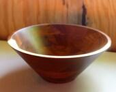 Solid Walnut Bowl – Large Vintage Serving Bowl