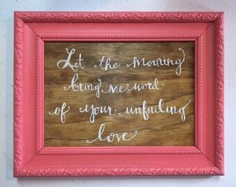 "Repurpised frame- ""Let the Morning"""