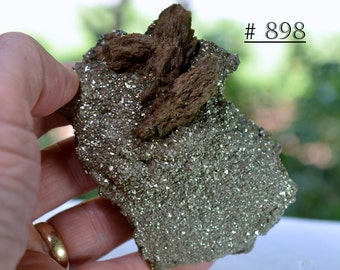 Unique Rensselaer Pyrite and Calcite Display Specimen - Mineral Collectible from Indiana, USA