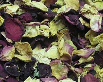 Dried Rose Petals - Dried Roses - Rose Petal Potpourri - Natural Vase Filler - Craft Supply - Mixed Rose Petals  -Rustic Home Decor