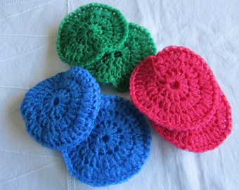 Extra large Crocheted Nylon Netting Scrubbies - Pot scrubbers - Foot scrubbers - Sold in set of 2
