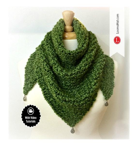 Loom Knitting Pattern Scarf Triangle Shawl Pattern Easy