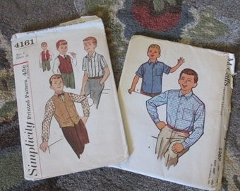 Set of Two Boys Vintage Patterns