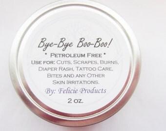Natural Salve for Cuts, Burns,Bug Bites, Tattoo Care, Etc. Organic Balm!