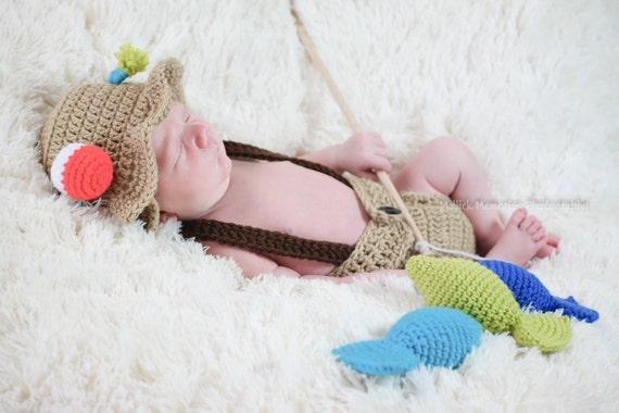 Baby fishing outfit newborn fisherman baby fisherman for Baby fishing outfit