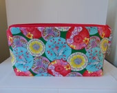 Cherry Blossoms and Cranes Zip Bag/Pouch