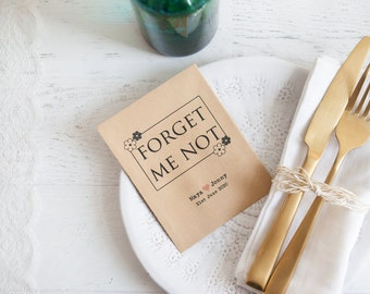 Forget Me Not - Seed Packet Favour