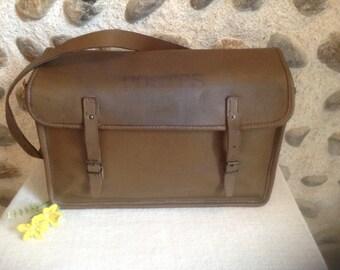 Fantastic! Vintage French Postal Brown Leather bag, Mail Bag French LA POSTE, / Bike Bag / Messenger Bag