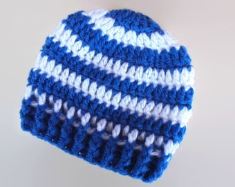 Striped baby hat, wool baby hat, newborn boy hat, baby boy outfit, hospital hat boy, take home outfit boy, crochet baby hat, infant boy hat