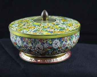 Vintage Decorative Tin Bowl