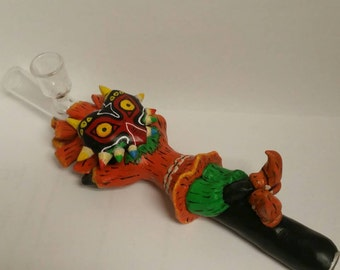 Deluxe Mask Smoking Pipe Extremely Detailed!