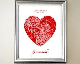 Granada Heart Map
