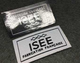 1000 pcs  iron on name label,iron on name tag,iron on woven label