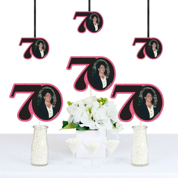 Chic 70th birthday pink black and gold diy photo for 70th birthday decoration ideas