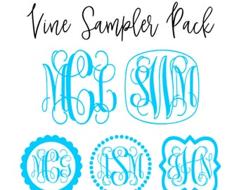 Vine Monogram Sampler Pack