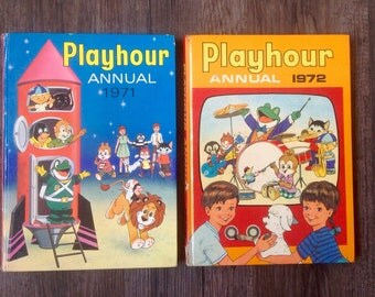 Two Vintage Playhour Annuals 1971 and 1972.