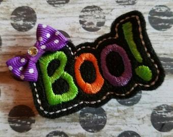 """Halloween """"Boo"""" Feltie Hair Clip"""
