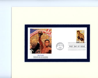 Heavyweight Champion Joe Louis and the First Day Cover of his own stamp