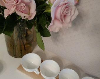Milk Glass Tea Cups (Set of 6)