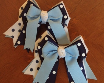 Shorty Hair Bows for Horse Shows/Hair AccessoryBlue