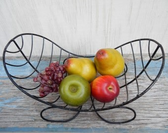 Cool Retro Metal Fruit Basket!