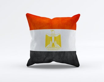 Flag of Egypt Throw Pillow Cover 15 x 15 inch