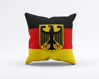Flag of Germany Throw Pillow Cover 15 x 15 inch