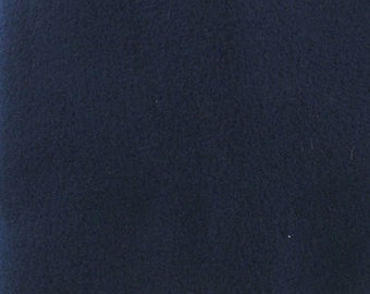 Fabric by the 1/2 Yard - Solid Navy Blue Polar Fleece