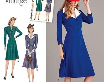 Vintage 1940's Dress Pattern Simplicity Pattern 8050